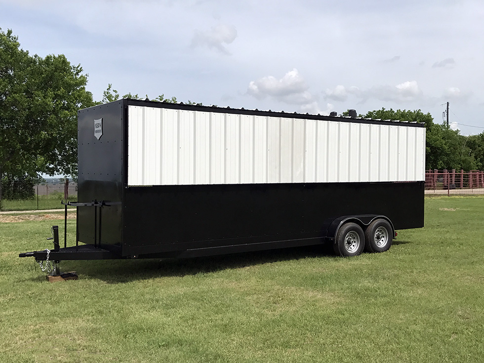 24 Enclosed Trailer – Johnson Custom BBQ Smokers