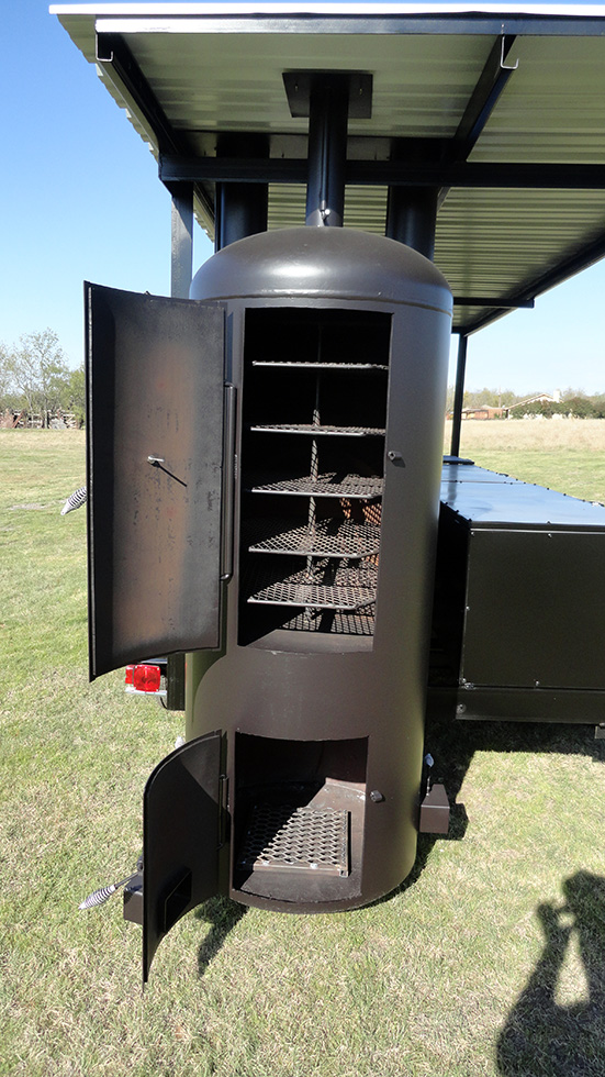 Large Dual Grill Roof Johnson Custom Bbq Smokers