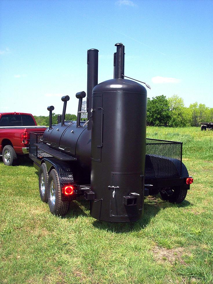 Large Single Grill Johnson Custom Bbq Smokers